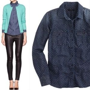 j. crew // keeper chambray star dot button down
